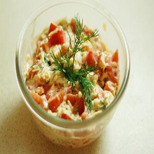 Салат из карбоната с перцем болгарским